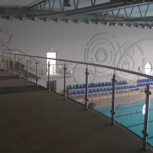 Metal indoor balustrade Lamo