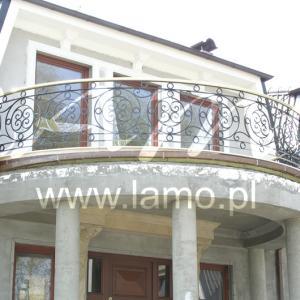 Balustrada balkonowa metalowa Lamo