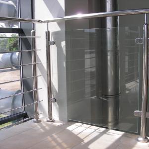 Balustrada wewnętrzna ze szkłem Lamo