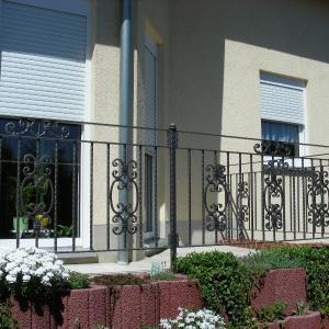 Balustrada zewnętrzna z metalu Lamo