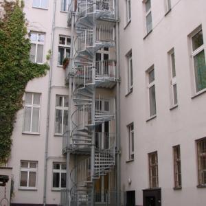 Aluminium spiral staircase Lamo