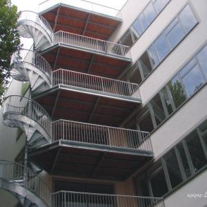 Steel metal staircase Lamo