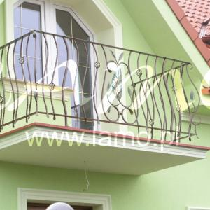 Balkonowe balustrady z aluminium Lamo